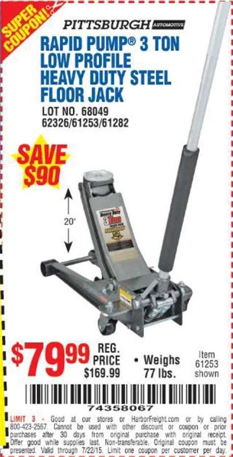 35 ton floor harbor freight low profile floor coupon harbor freight 68049