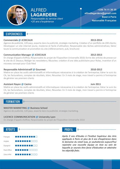 Modèle De Curriculum Vitae Professionnel by 1000 Ideas About Cv Moderne On Modele De Cv