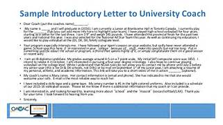 Webinar Wednesday Student Athletic Recruitment 10 Helpful Articles When Writing Emails To College Coaches Best Photos Of College Letter Of Interest Cover Sample Best Photos Of Soccer Recruiting Letter Sample College