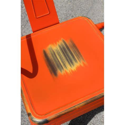 Chaise Retro Metal by Chaise R 233 Tro En M 233 Tal Vieilli Orange Retro Orange