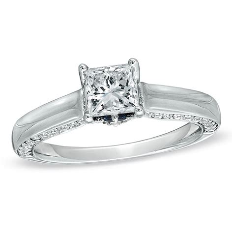 zales style 18638601 white gold princess cut diamond