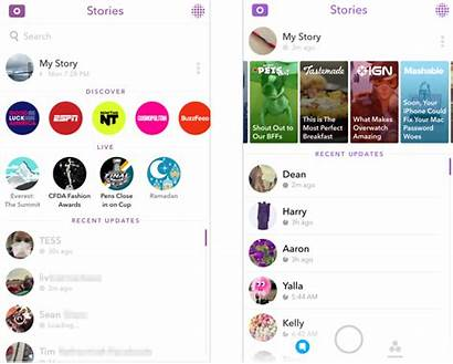 Snapchat Stories Discover Version Techcrunch
