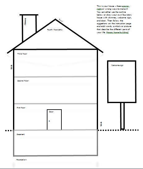 drawyourdbthousetemplate therapy worksheets therapy counseling therapy activities