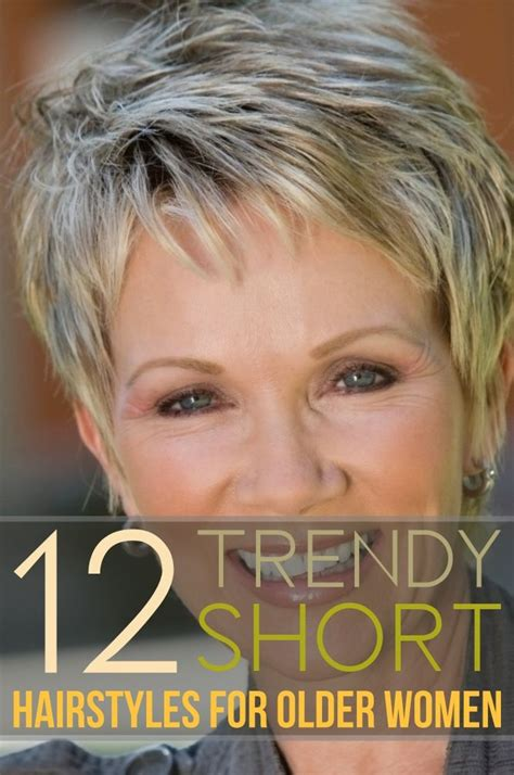 trendy short hairstyles  older women    trendy short hair styles short hair