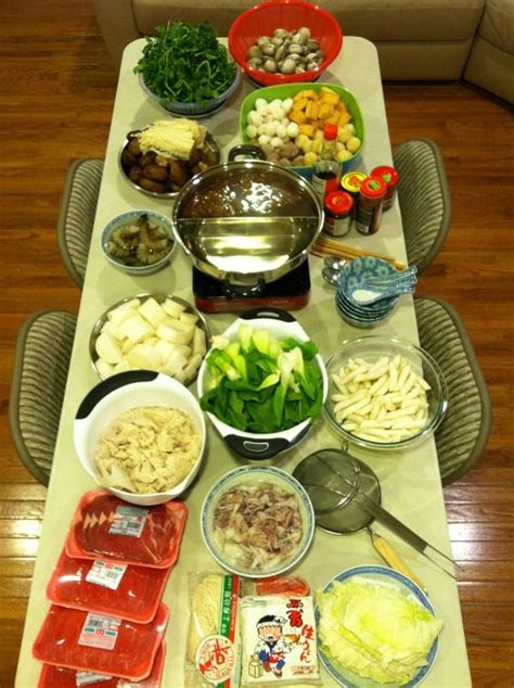 shabu shabu pot and pots on