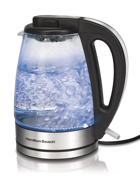 Amazon.com: Hamilton Beach 40865 Glass Electric Kettle, 1.7 Liter: Kitchen & Dining