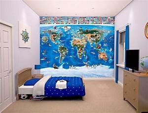 Tapete Weltkarte Kinderzimmer : walltastic fototapete kinderzimmer wandbild weltkarte mit flaggen www 4 ~ Sanjose-hotels-ca.com Haus und Dekorationen