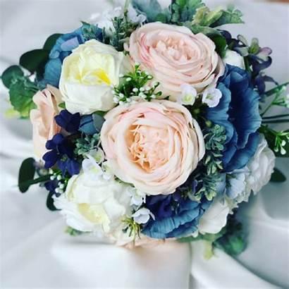 Bouquet Blush Navy Artificial Bridal Adira Silkinfinityflowers