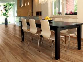 best luxury vinyl wood plank flooring for modern minimalist kitchen and dining room design with