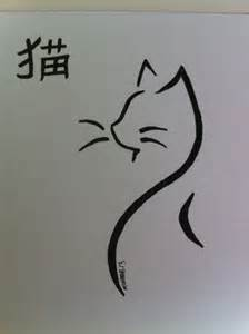 Japanese Cat Drawing