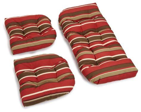 Settee Cushion Sets by U Shaped Spun Polyester Tufted Settee Cushion Set Set Of