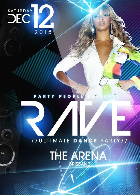 rave party psd flyer template free download by