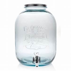 Bonbonne Avec Robinet : bonbonne autenthic style mason jar avec robinet 12 5 l haut 35 cm ~ Teatrodelosmanantiales.com Idées de Décoration