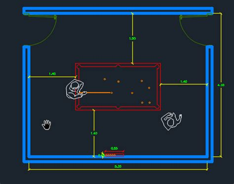 game room detail  dwg design section  autocad