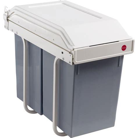 leroy merlin poubelle de cuisine poubelle de cuisine manuelle hailo plastique blanc crème