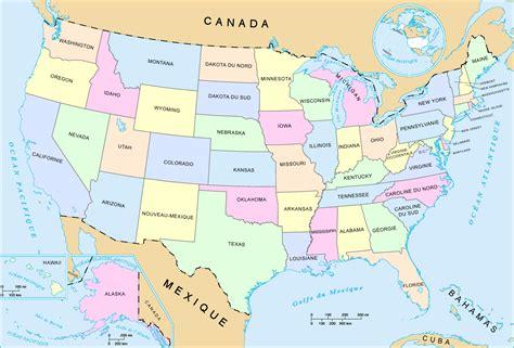 cuisine des etats unis carte états unis ville