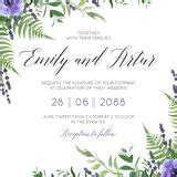 save  date wedding invitation card stock vector