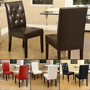 angelo bonded leather studio dining chair 2 pk