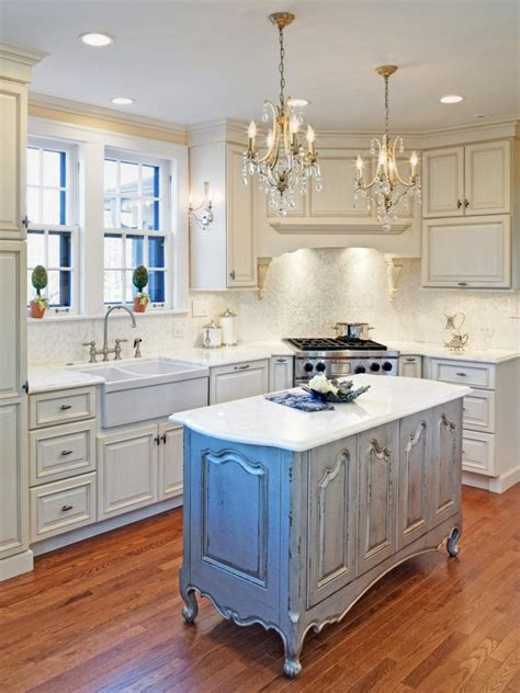 kitchen style distressed white kitchen cabinets mixed glass chandeliers