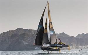 Sailing at Extreme Sailing Series, Muscat Oman