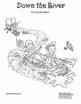 River Coloring Pages Rivers Down sketch template