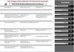 2015 Honda Civic Owners Manual
