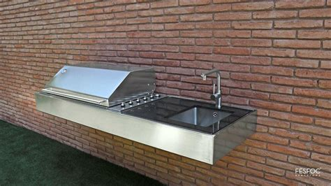 Kitchen Bench German by Bbq Gas Outdoor Kitchen Stainless Steel Bench And Grill
