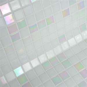 Mosaique Piscine Pas Cher : mosa que salle de bain blanc nacr en p tes de verre blanc ~ Premium-room.com Idées de Décoration