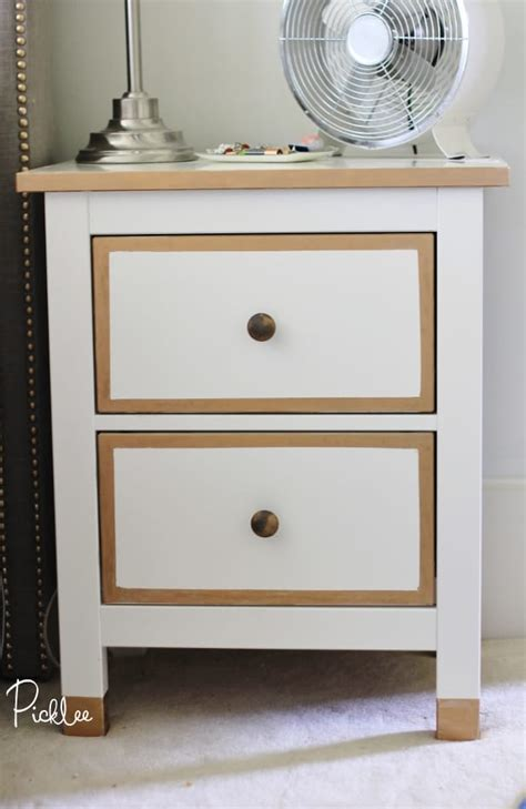 Nightstand Hack by Ikea Hack Gilded Gold Hemnes Nightstands Diy Picklee