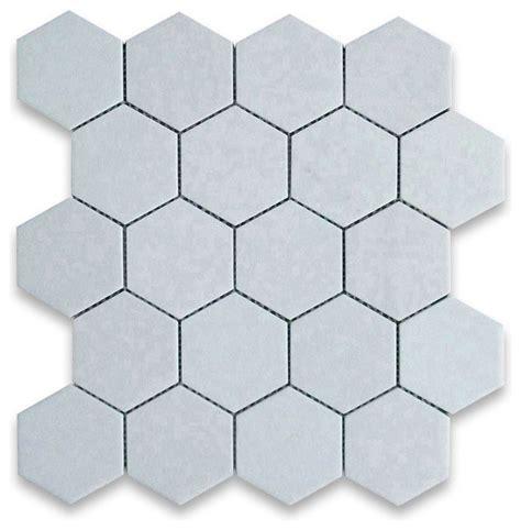 thassos white 3 inch hexagon mosaic tile honed marble