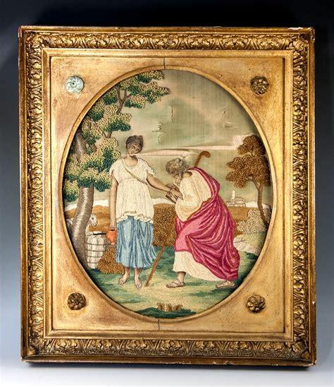 tappezzeria inglese antico 1700s inglese seta lavoro ricamo tappezzeria