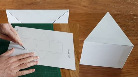 paper triangular prisms tutorial youtube