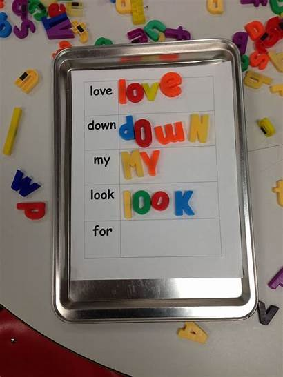 Magnetic Letters Spelling Words Sheet Cookie Magnets