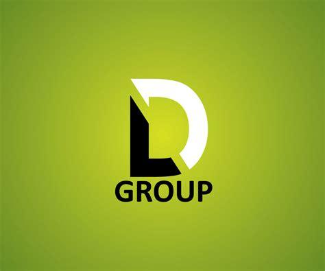 unique typeface based logo design  ld group  designhill