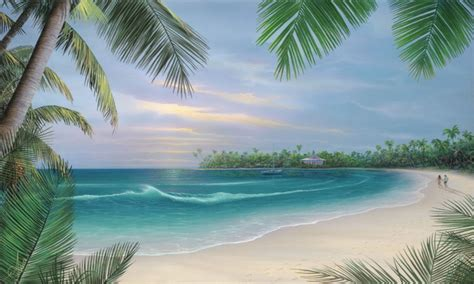 easy room design ideas beach scene mural ideas tropical