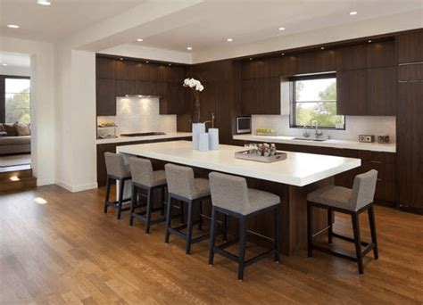 How To Get An Ideal Kitchen Island Overhang