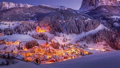 Val Gardena Bing Italy Valgardena Sunset Dolomites