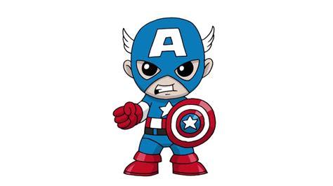 How To Draw Cartoon Captain America