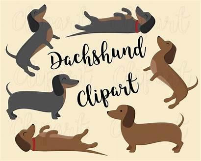 Dachshund Dog Clipart Puppy Clip Dogs Svg