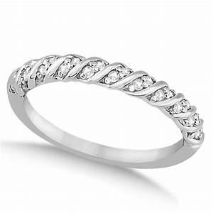 Diamond Rope Wedding Band In Palladium 017ct U1126