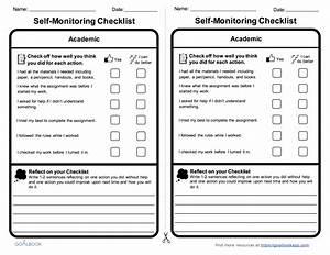 Academic Self-Monitoring Checklist   Goalbook Pathways