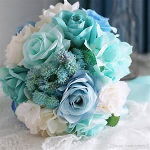 Ramo De Novia 2016 Baby Blue Light Mint Green Bridal ...