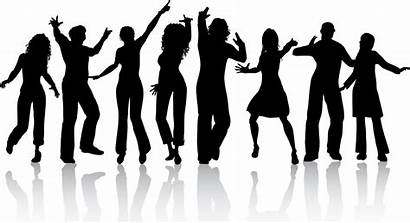 Friends Silhouette Clipart Clip Cliparts Vector Dancing