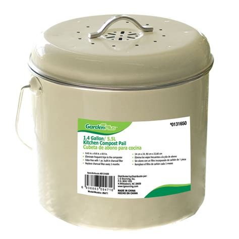 shop garden   gallon kitchen compost pail  lowescom