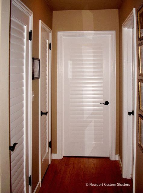 louver doors seattle traditional hall seattle  newport custom shutters