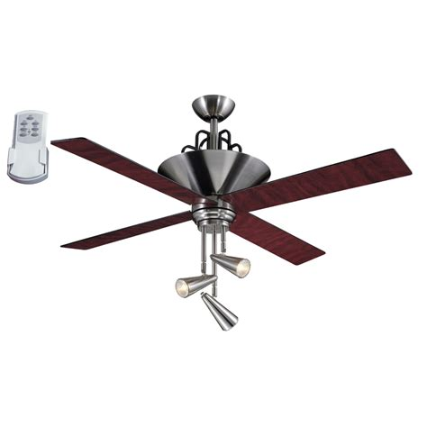 ceiling fan light switch lowes shop harbor breeze galileo 52 in brushed chrome downrod