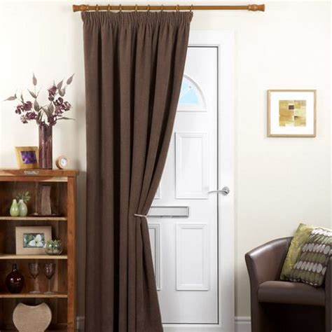 buy chenille spot single panel thermal coated door curtain