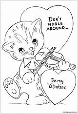 Fiddle Around Don Coloring Valentine sketch template