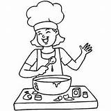 Cooking Coloring Happy Pages Clipart Printable Kitchen Clip Play Freeprintablecoloringpages Memasak Cook Sheets Mom Cookin Foods Healthy Getdrawings Simple Cobbler sketch template