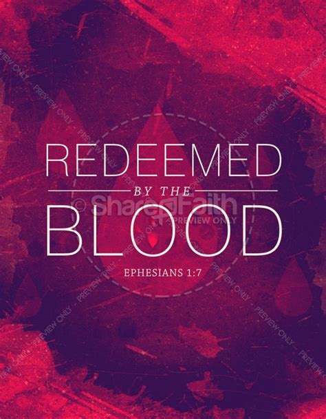 redeemed   blood religious flyer template flyer